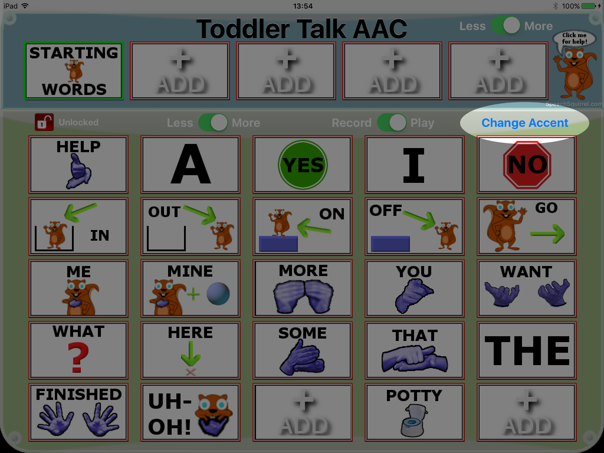 Toddler talk aac updated to version 2 5 for Fish oil for toddlers speech delay